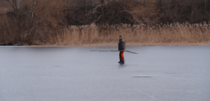 Камикадзе на зимней рыбалке