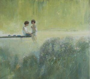 жон Сингер Сарджент Две девушки на рыбалке 1912 г.