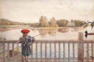 Карл Ларссон Элизабет на рыбалке