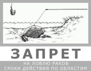 Запрет на лов раков