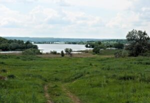 Залив Днепра в селе
