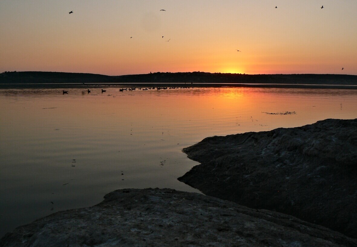 Международный день днепра закат на реке