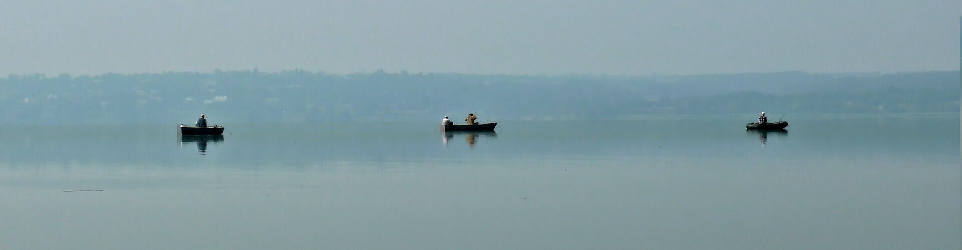Рыбалка на Днепре / Ловля с лодки