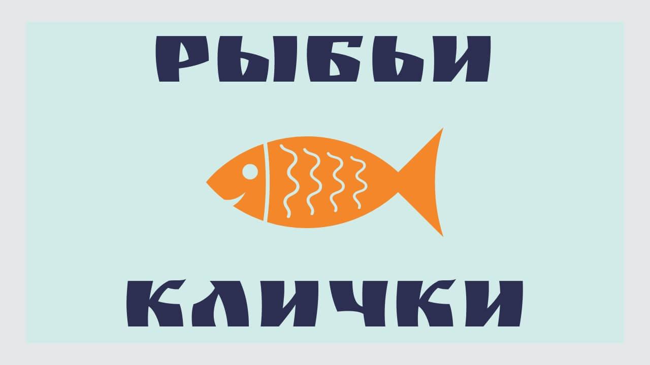Рыбьи клички или названия рыб на сленге