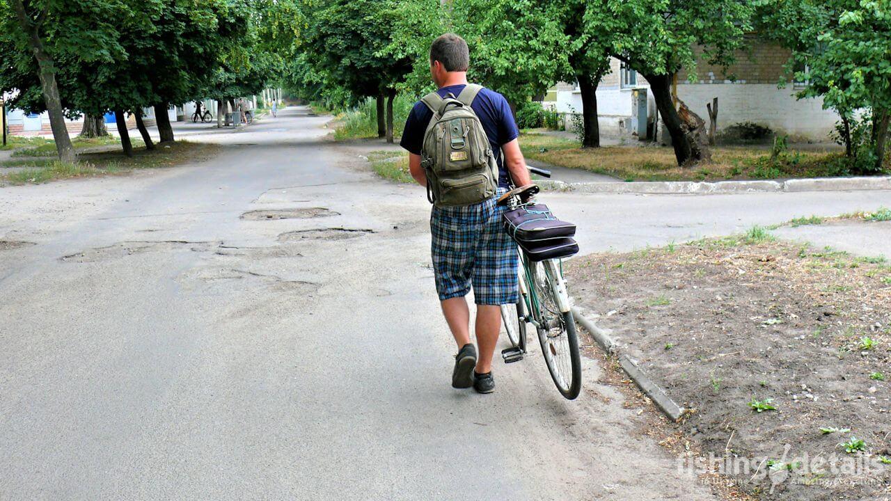 Рыбалка в Украине ФОТОФАКТ Украина велосипед