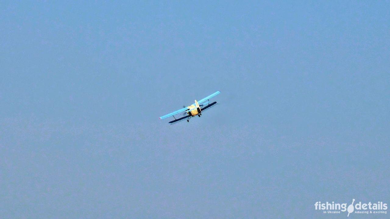 Самолет в цветах Украины