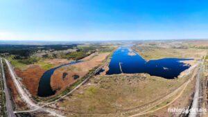 Река Самара с высоты - Озеро Бухенвальд и Первый разлив
