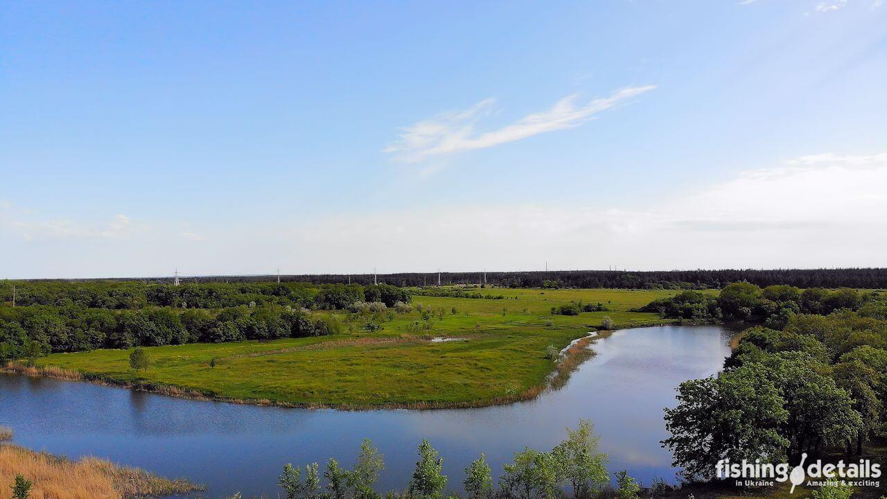 Старое русло реки самара в районе шахты Павлоградская