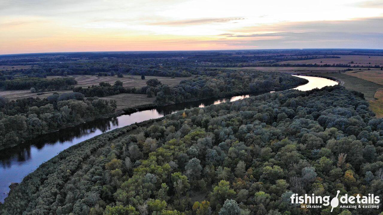 Закат на реке Десна