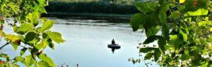 Рыбак на реке Десна